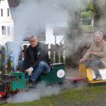 Erste Probefahrt mit der Kindereisenbahn